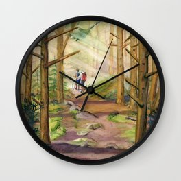 Walk Into The Light Wall Clock