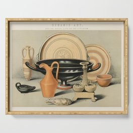Ceramic Art Ancient Greek, Cyprian and Etruscan (1891), a collection of everyday ceramic tools used Serving Tray