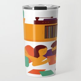 Record Playing Travel Mug