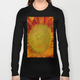 The flower of sun   (This Artwork is a collaboration with the talented artist Agostino Lo coco) Long Sleeve T-shirt