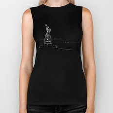 New York by Friztin Biker Tank