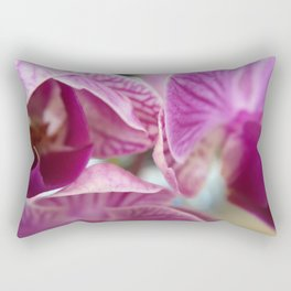 Detail of pink orchids Rectangular Pillow