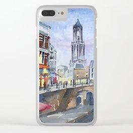 Domtoren Utrecht Clear iPhone Case