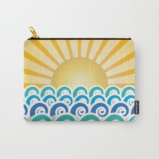 Along the Waves Blue Carry-All Pouch
