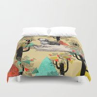 world Duvet Covers featuring Found You There  by Sandra Dieckmann