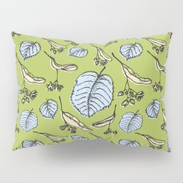 Linden pattern in spring colors Pillow Sham