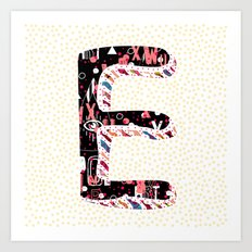 E (Coffee Series) Art Print