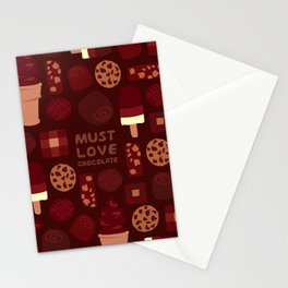 Must Love Chocolate Stationery Cards