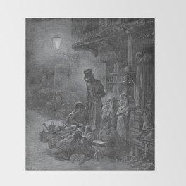 Gustave Dore: Houndsditch Throw Blanket