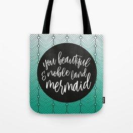 Jade Green Mermaid, Parks and Rec Leslie Knope Quote Tote Bag