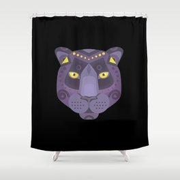 Royal Black Panther Shower Curtain