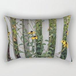 Fenced In Black Eyed Susans Rectangular Pillow