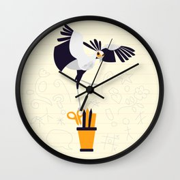 Secretary Bird - v3 Wall Clock