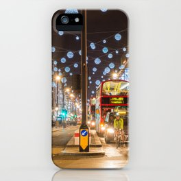 Christmas in London iPhone Case