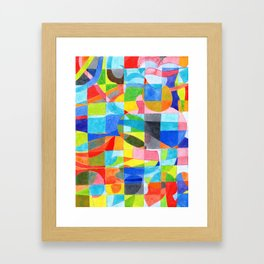 Grid with integrated Bizarre Shapes Framed Art Print