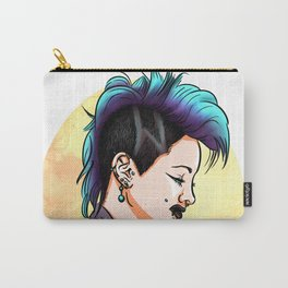 Sexy Punk Rock Pin Up Girl wih Piercings Carry-All Pouch