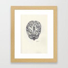 BALLPEN BRAIN 3 Framed Art Print
