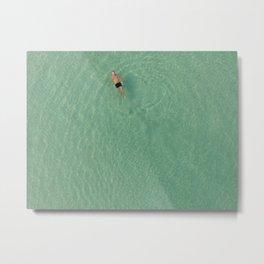 Aerial Swim Metal Print