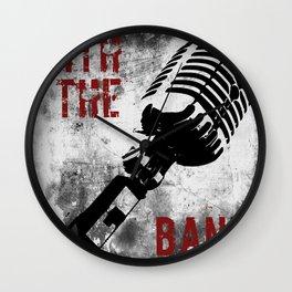 Rock n' Roll Microphone Wall Clock