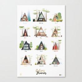 Cabins Diaries Canvas Print