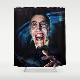 Christopher Lee Dracula Horror Movie Monsters Shower Curtain
