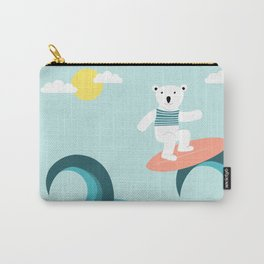 Polar bear surfing. Carry-All Pouch