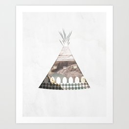 Tipi Number 3 Art Print