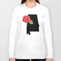alabama Long Sleeve T-shirts featuring Alabama Silhouette by Ursula Rodgers