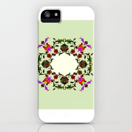 light green medalion iPhone Case