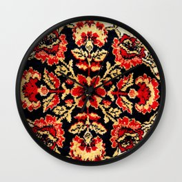 Image of vintage carpet. Colorful pattern Wall Clock