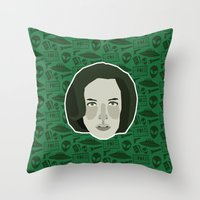 scully Throw Pillows featuring Dana Scully by Kuki