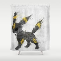 the moon Shower Curtains featuring Moon by Melissa Smith