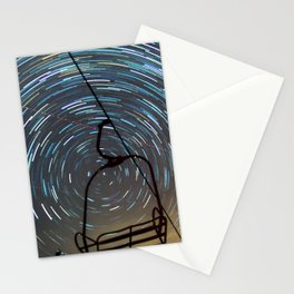 Chair Lift Spiral Stationery Cards
