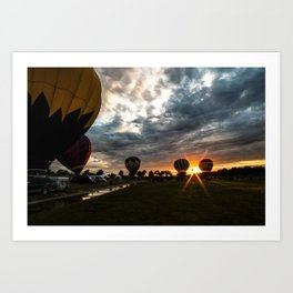 Balloon Festivities Art Print
