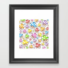 Iddy Diddy Mushrooms  Framed Art Print