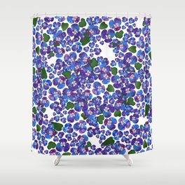 MENEKSE_WHITE Shower Curtain