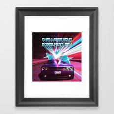 Challenge your Dodgement Day Framed Art Print