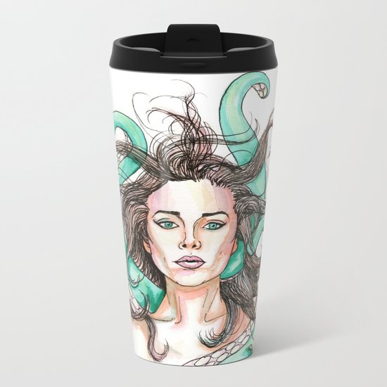 tentacle woman Metal Travel Mug