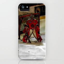 Life Goals - Ice Hockey Goalie Motivational Art iPhone Case