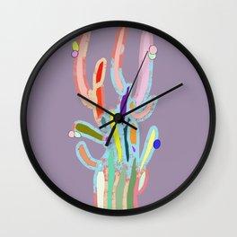 cactus colorful 5 Wall Clock