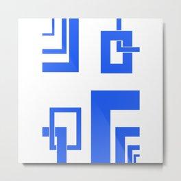 4.4 - frames - blue Metal Print