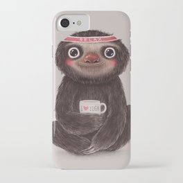 Sloth I♥yoga iPhone Case