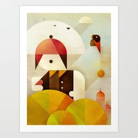 birdman Art Prints featuring Birdman by Squizzato