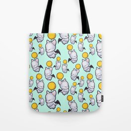 Wind-Up Moogles on Mint Green Tote Bag