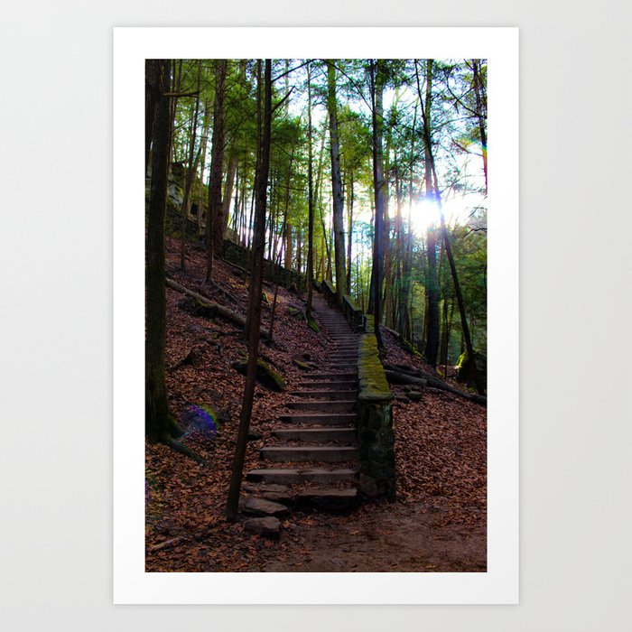 The Staircase to... Art Print