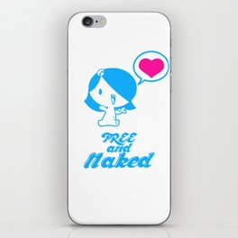 Free and Naked iPhone Skin
