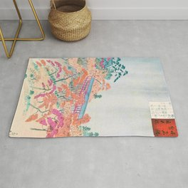 Kobayashi Kiyochika - Sketches of the Famous Sights of Japan - Tsutenkyo - Digital Remastered Edition Rug