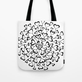 Concentric Hearts Tote Bag