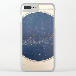 Chambers - Star Map, Southern Hemisphere, 1904 Clear iPhone Case