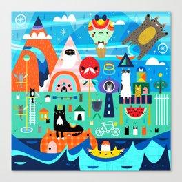 Kitty Island Canvas Print